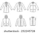 men's outerwear clothes ...   Shutterstock .eps vector #252245728