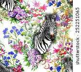 floral seamless pattern on... | Shutterstock .eps vector #252251065