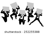 silhouettes of business man... | Shutterstock . vector #252255388