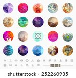 abstract geometric patterns set ... | Shutterstock .eps vector #252260935
