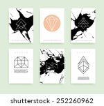 set of business card templates. ... | Shutterstock .eps vector #252260962