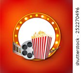 cinema signboard with light... | Shutterstock .eps vector #252270496