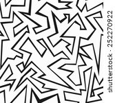 monochrome grunge seamless... | Shutterstock .eps vector #252270922