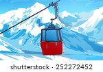 cableway in swiss alps at... | Shutterstock .eps vector #252272452