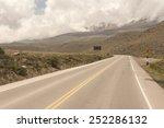 a peruvian roadway near... | Shutterstock . vector #252286132
