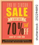 end of season sale flyer ... | Shutterstock .eps vector #252294892