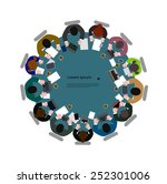people  at  table the top view | Shutterstock .eps vector #252301006