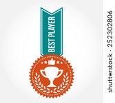 simple vintage best player badge | Shutterstock .eps vector #252302806