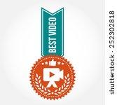 simple vintage best video badge | Shutterstock .eps vector #252302818