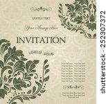 retro invitation or wedding...   Shutterstock .eps vector #252307372