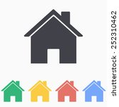 home icon | Shutterstock .eps vector #252310462