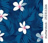 tropical plumeria floral... | Shutterstock .eps vector #252311266