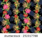 pattern of hibiscus | Shutterstock .eps vector #252317788