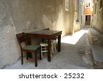 a modest wooden table and a... | Shutterstock . vector #25232