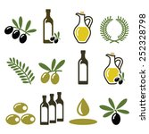 olive oil  olive branch icons... | Shutterstock .eps vector #252328798