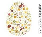 happy easter card | Shutterstock .eps vector #252330436