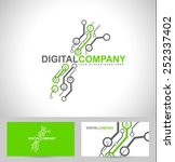 digital electronics logo design.... | Shutterstock .eps vector #252337402