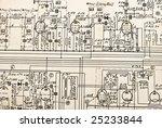 vacuum tubes electronics...   Shutterstock . vector #25233844