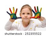 drawing on your hands is a lot... | Shutterstock . vector #252355522