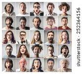 surprised people  | Shutterstock . vector #252364156