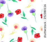 seamless floral background ... | Shutterstock .eps vector #252380116