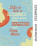 motivational quote poster | Shutterstock .eps vector #252389632