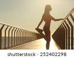 Runner silhouette doing...