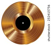 gold vinyl vector illustration. | Shutterstock .eps vector #252415756