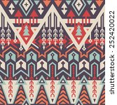 vector seamless tribal pattern. ... | Shutterstock .eps vector #252420022
