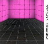 interior room   brick wall and... | Shutterstock . vector #252432832