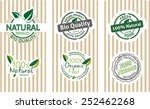 set of natural  bio quality... | Shutterstock .eps vector #252462268