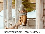 very nice beautiful girl child... | Shutterstock . vector #252463972