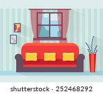 living room with sofa and long... | Shutterstock .eps vector #252468292
