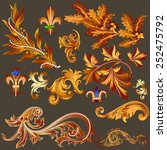 vector set of calligraphic... | Shutterstock .eps vector #252475792