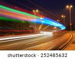 traffic in city on bridge | Shutterstock . vector #252485632