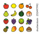 fruit icons   vector... | Shutterstock .eps vector #252497992