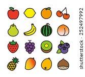 fruit icons   vector... | Shutterstock .eps vector #252497992