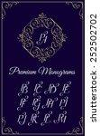vintage monogram design... | Shutterstock .eps vector #252502702