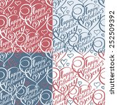 seamless pattern with lettering ... | Shutterstock .eps vector #252509392