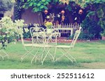 white table and chairs in... | Shutterstock . vector #252511612