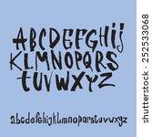black grunge alphabet.    Shutterstock .eps vector #252533068