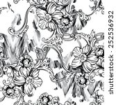 eclectic fabric seamless... | Shutterstock .eps vector #252536932