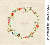 vintage wreath with foliate...   Shutterstock .eps vector #252537328