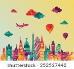 europe skyline detailed... | Shutterstock .eps vector #252537442