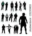 young man silhouettes | Shutterstock .eps vector #25253803