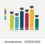 flat chart  graph. simply color ... | Shutterstock .eps vector #252541342