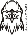 tribal eagle vector... | Shutterstock .eps vector #25254475