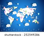 collection of colorful pointers ... | Shutterstock .eps vector #252549286