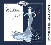 wedding card 2 | Shutterstock .eps vector #252560905