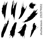 blots and smudges. set of black ... | Shutterstock .eps vector #252579052